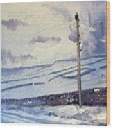 Winter Walkers Wood Print