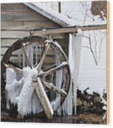 Winter Wheel Wood Print