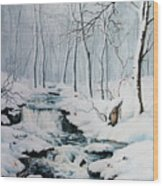 Winter Whispers Wood Print