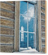Winter Windows Wood Print