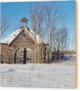 Winter Wisconsin Barn Wood Print