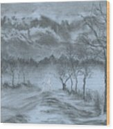 Winter With My Lover Wood Print