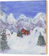 Winter Wonderland - Www.jennifer-d-art.com Wood Print