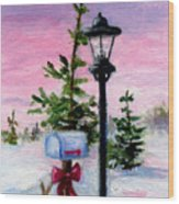 Winter Wonderland Aceo Wood Print