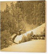 Winter Wonderland In Switzerland - Up The Hills Wood Print