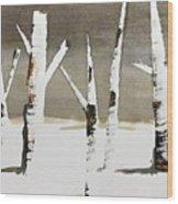 Winter Wood Wood Print