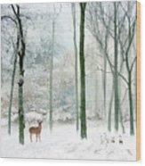 Winter Woodland Wood Print