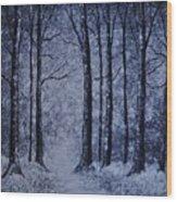 Winter Woods Eve Wood Print
