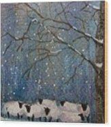 Winter Wool  Wood Print