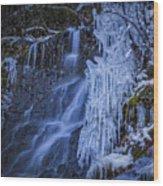 Winterfalls Wood Print