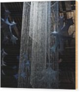 Winterfest Chandelier Spotlight Wood Print