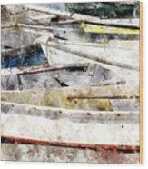 Winterport Dories Wc Wood Print