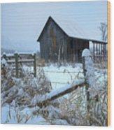 Winters Arrival Wood Print
