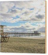 Winters Beach Wood Print