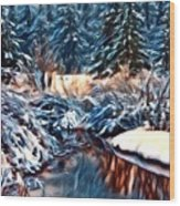 Winter's Bliss Wood Print