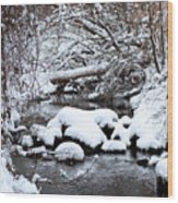 Winters Crossing Wood Print