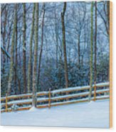Winters Day - Pisgah Forest Nc Wood Print