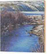 Winter's Edge, Flat Creek Jackson Wood Print