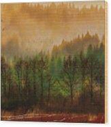 Winters End Wood Print