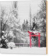 Winter's Entrance Wood Print