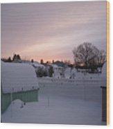 Winter's Evening  Wood Print by Thomas  MacPherson Jr