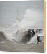 Winters Fury In Port Wood Print