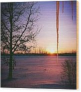 Winters Glow Wood Print