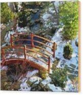 Winter's Goodbye Wood Print
