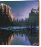 Winters Lake Wood Print