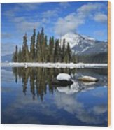 Winters Mirror Wood Print