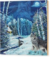 Winters Night 2 Wood Print