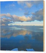 Winter's Refection Wood Print