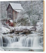 Winter's Rest Wood Print