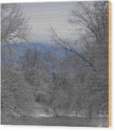 Winters Retreat Wood Print