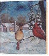 Winters Serenity Wood Print