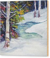 Winter's solace Wood Print