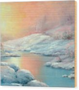 Winter's Sunset Wood Print