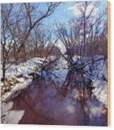 Wintertime In Necedah  Wood Print