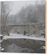 Wintertime In The Wissahickon Valley Wood Print