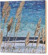 Wintertime On Lake Erie Wood Print