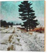 Wintry Altona Road Wood Print