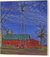 Wisconsin Amish Farm Wood Print