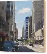 Wisconsin Ave 2 Wood Print