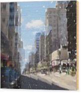 Wisconsin Ave Cubist Wood Print