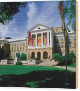 Wisconsin Bright Colors At Bascom Wood Print by UW Madison University Communications