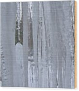 Wisconsin Icicles Wood Print