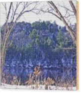 Wisconsin River 3 Wood Print by Dave Dresser