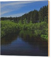 Wisconsin River In Vilas County Wood Print