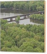 Wisconsin River Overlook 2 Wood Print