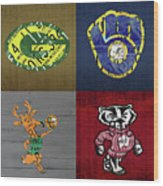 Wisconsin Sports Collage With Badgers Brewers Bucks